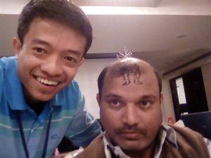 tim kami saat mengikuti pelatihan di India